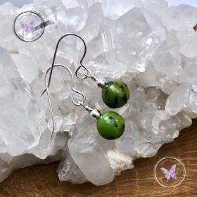 Classical Chrysoprase Silver Earrings